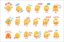 Cute Cartoon Chickens Characte...