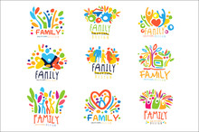 Colorful Family Labels Origina...
