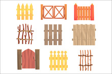 Different Garden Wooden Fences...