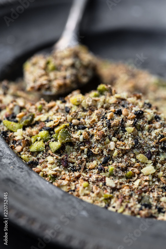 Keuken foto achterwand Kruiderij Dukkah, a nut and spice mixture from Egypt
