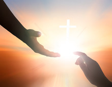 International Day Of Peace Concept: The Hand Of God's Help