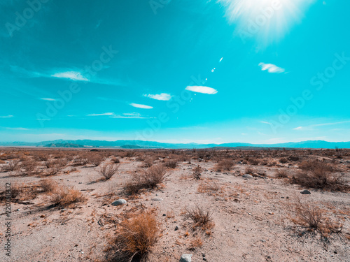 Photo Stands Turquoise Dessert road in califronia