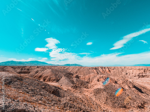 Poster Turquoise Dessert road in califronia