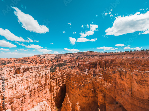 Spoed Foto op Canvas Blauw Natural sand castle in bryce canyon