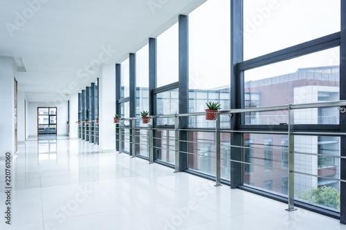 Valokuva empty corridor in the modern office building.
