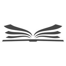 Open Book Logo, Book Icon