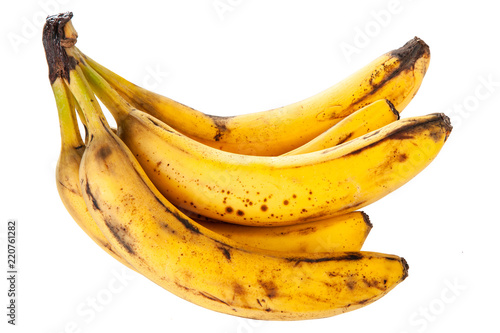 Overripe spotted bananas