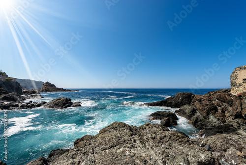 Mediterranean Sea and Coast in Framura - Liguria Italy