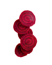 Common Beet Slices Against Whi...