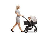 Young Mother Walking With A St...