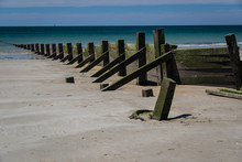 Wooden Groynes At La Couarde B...