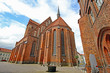 canvas print picture - Perleberg; Gotische St. Jacobikirche (13. Jh., Brandenburg)