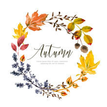 Warm Autumn Floral Background