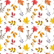 Warm Autumn Seamless Pattern