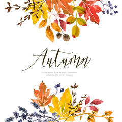 Warm autumn floral background