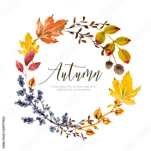 Obraz Warm autumn floral background - fototapety do salonu