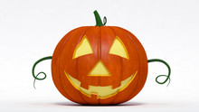 Halloween, Well Pumpkin Jack-o-lantern. 3d Illustration