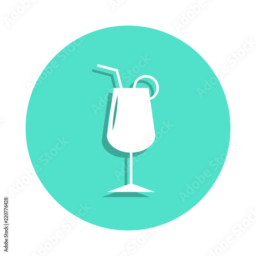 Photo  Coctail icon in badge style