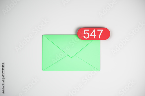547 green email icons