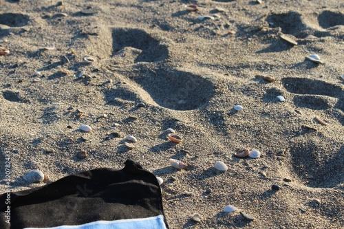 Fotografija  trace de pas dans le sable