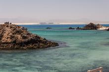 Ocean Landscape. Natural Pools Near  Lobos And Fuerteventura Island