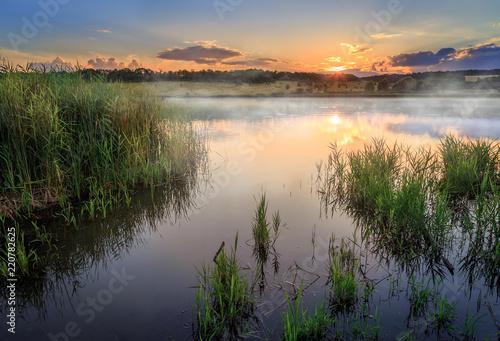 Fotografia, Obraz Sunset on the lake