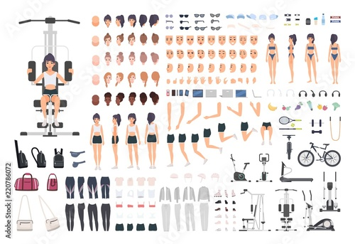 Valokuvatapetti Sportswoman or fitness girl DIY kit