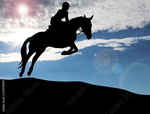 Tuinposter Paardrijden Reitsport - 108