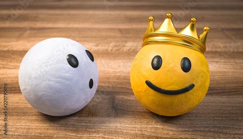Photo  3D Illustration der König und der staunender