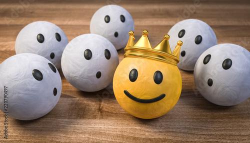 3D Illustration die staunenden und der König Canvas Print