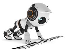 3D Illustration Roboter An Der...