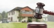 canvas print picture - Gavel and property auction