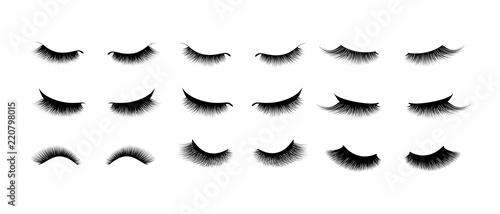 Slika na platnu Eyelash extension set