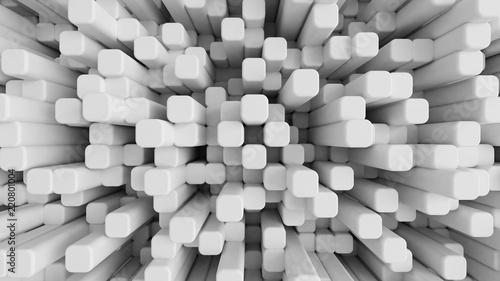 Obraz Białe tło z plastrów miodu. 3d ilustracja, 3d rendering - fototapety do salonu