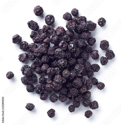 Heap of freeze dried blueberries