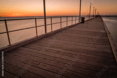 The pier of Frankston in the summer just after sunset