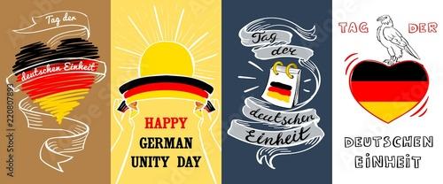 Fotografie, Obraz  Deutschen einheit banner set