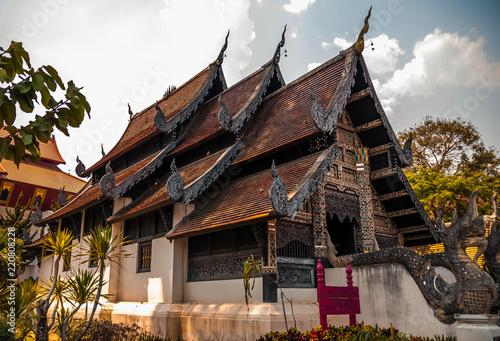 Spoed Foto op Canvas Bedehuis Las ruinas del Wat Chedi Luang, Chiang Mai, Tailandia