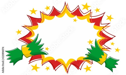 Christmas Cracker Pull with Outline Star Flash Background Wallpaper Mural