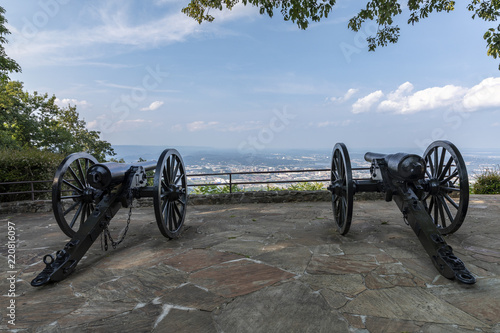 Fotografie, Tablou  Civil War Cannon Scenic Overlook