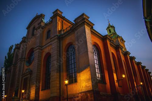 Staande foto Stockholm Stockholm cathedral near king palace