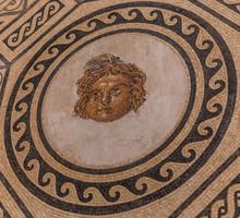 Mosaic  On A Church Floor