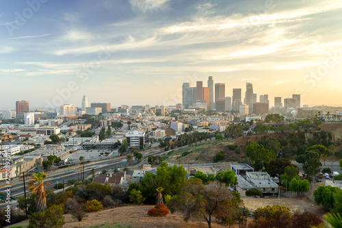 Keuken foto achterwand Amerikaanse Plekken Los Angeles downtown skyline