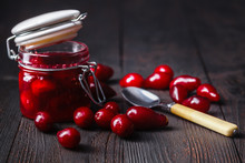 Ripe Red Cornel Berries Small ...