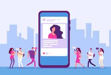Social Media Concept. People F...