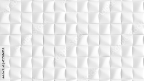 Fotografía  White background texture with geometric shapes