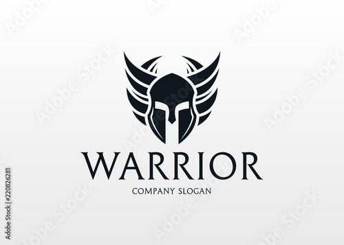Leinwand Poster Warrior Logo
