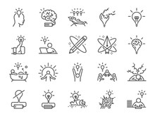 Creativity Icon Set. Included ...