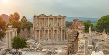 Library Of Celsus In Ephesus A...