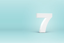 High Detailed 3D Font Number, Vector Illustration